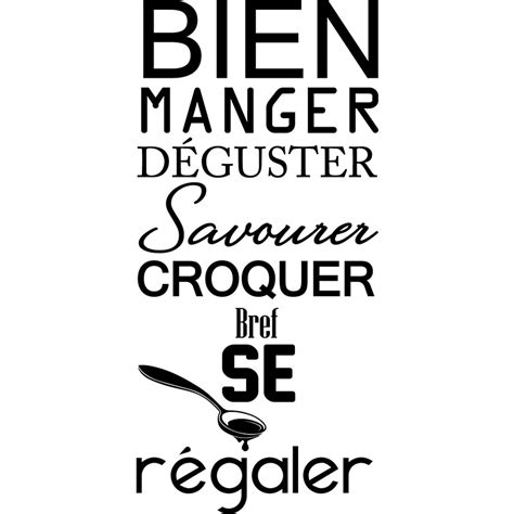 cuisine et citation sticker citation manger déguster savourer stickers
