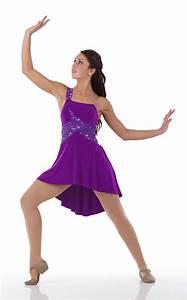 Ballet Lyrical Dance Costume Dress Purple Sequin BEAUTIFUL ...