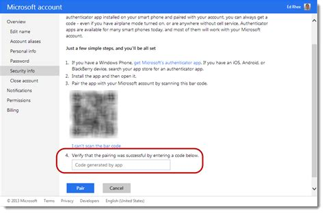 how to use two step verification with your microsoft