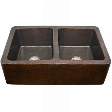 Home Depot Copper Farmhouse Sink by Houzer Hammerwerks Series Kitchen Farmhouse Undermount
