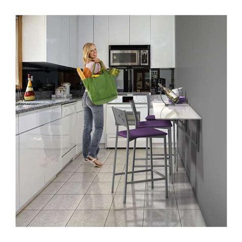 d馗o murale cuisine table murale rabattable d 39 appoint en verre vulcano 4 pieds tables chaises et tabourets