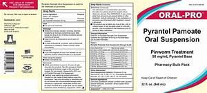 Medication Chart Dailymed Pyrantel Pamoate Pyrantel Pamoate Suspension