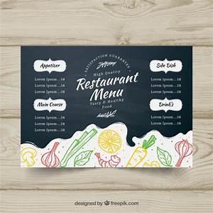 blackboard menu template in horizontal format vector With horizontal menu templates free download