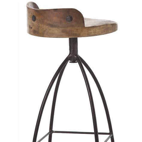 bar stool industrial missoula industrial loft antique wood iron swivel bar stool