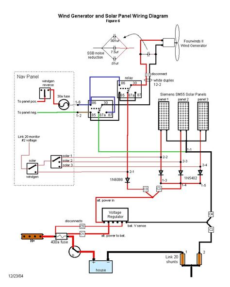Wiring Diagram For Water by Wind Generator And Solar Wiring Diagram Solar Panels