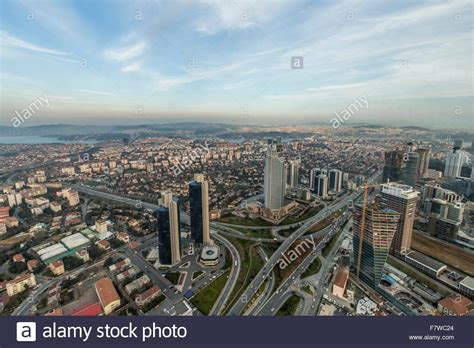 City View From Istanbul Sapphire Istanbul Turkey Stock