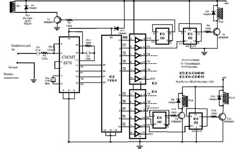 Cell Phone Controlled Home Appliance Circuit Electronics