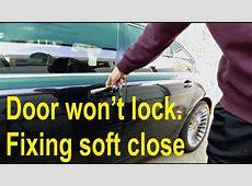 Door won't lock Fixing comfort access soft close door