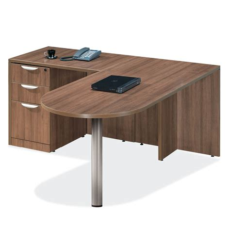 Office Desk Mobile Al by Laminate L Shaped Peninsula Desk 8 Colors Mcaleer S