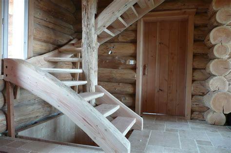 escalier en rondin de bois kofabois meuble en rondin massif