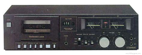 Technics Rsm205  Manual  Metal Tape Compatible Stereo