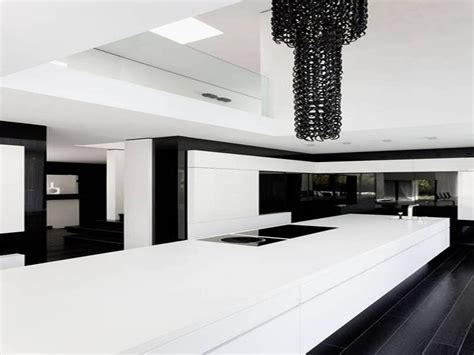 Modern Kitchen Modern Black And White Kitchen Decor