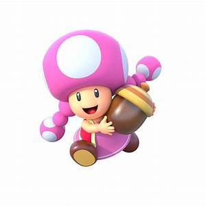 Artwork Of Toadette For Mario Party Star Rush By