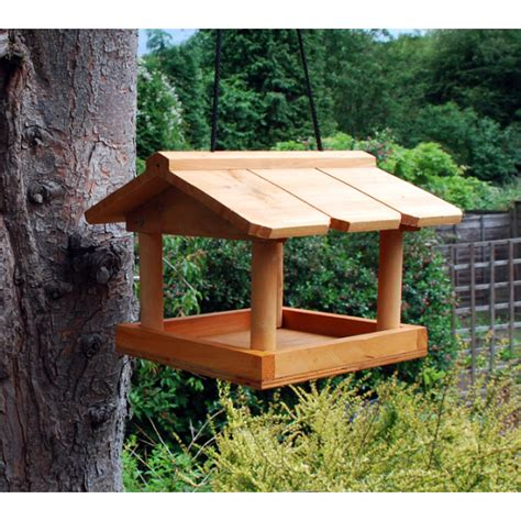 bird table hanging wild bird feeder wooden seed feeding