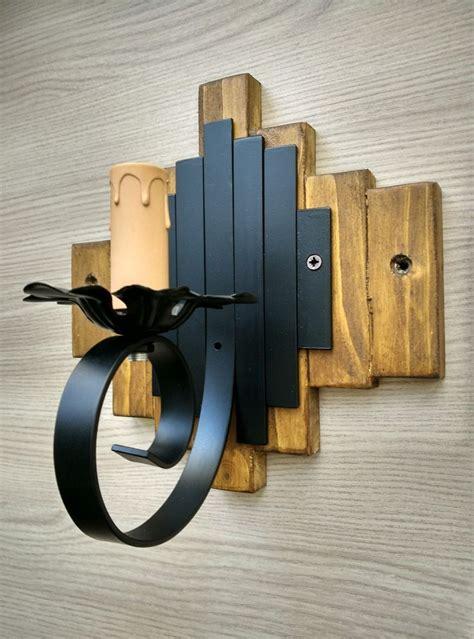 applique stile country dettagli su applique rustico ferro e legno da parete 1