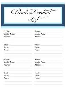wedding checklist and planner wedding printable vendor contact by poshsouthernplanners