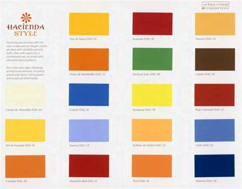 pittsburgh 174 paints new hacienda style color palette