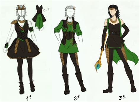 Lokis Female Designs By Lenakurohana On Deviantart