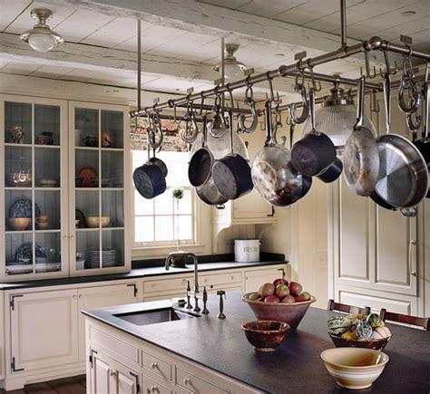 kitchen island with hanging pot rack kitchen planning and design pot racks