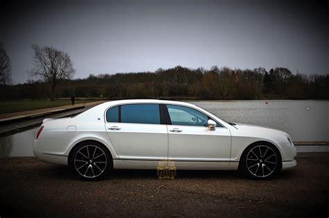 White Bentley Flying Spur Wedding Car Hire