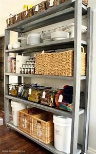 Rolling, Kitchen, Pantry, Shelves