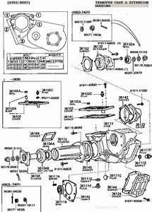 Fj40 Fj55 Fj60 Fj62 Fj80 Transfer Case Illustration Diagram