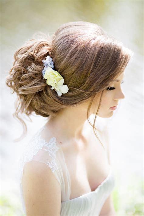 Flower Updo Hairstyles by Wedding Hairstyles Deer Pearl Flowers Part 3