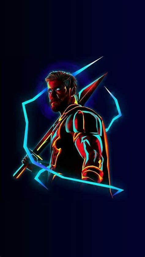 thor neon avengers infinity war iphone wallpaper iphone