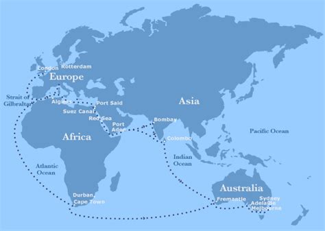 Boat Shipping From Australia by Travel From Australia To Via Suez Canal