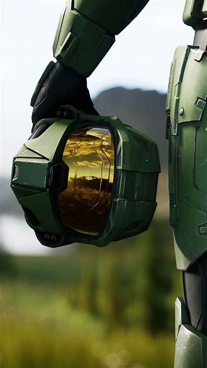 Halo Infinite 4k Helmet Pantalla Fondos Ultra