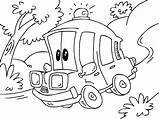 Ambulance Coloring Cartoon Pages Printable Oloring Getcoloringpages Popular sketch template