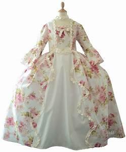robe marie antoinette fleurie blanc casse disfraces With robe blanc cassé