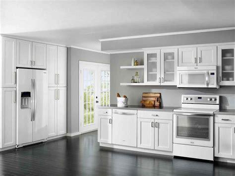 shaker kitchen ideas white shaker kitchen cabinets grey floor deductour com