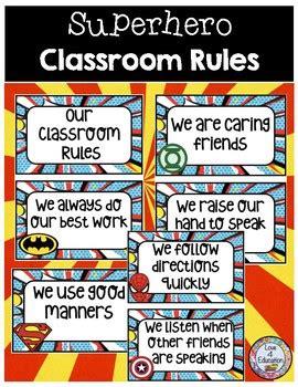 classroom rules superhero theme  love  education tpt