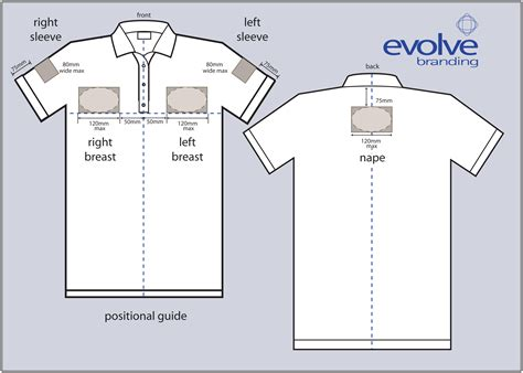 embroider polo shirt template embroidery logo placement chart ausbeta