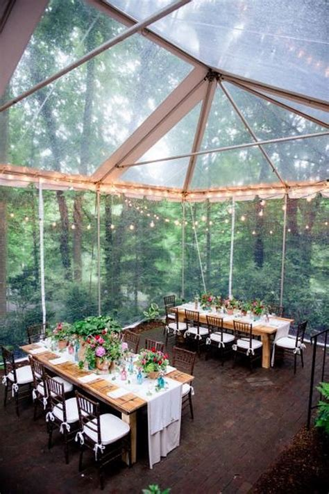 woodland wedding tent decor ideas deer pearl flowers