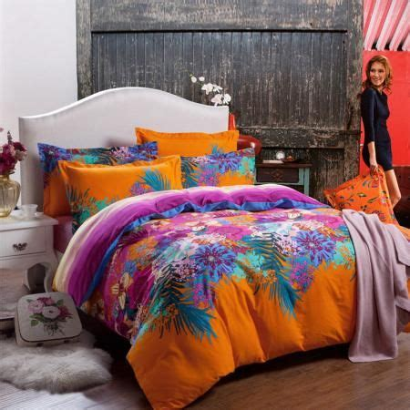 bright colorful floral  cotton bedding sets bedding
