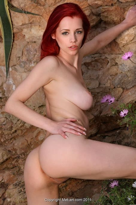 Redhead Outdoors In Erotic Nude Set Where We See Her