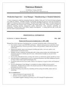 resume objectives for manufacturing 10 supervisor resume template free writing resume sle