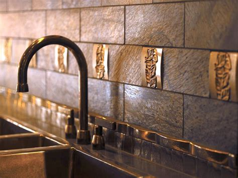 tile backsplash metal tile backsplashes hgtv