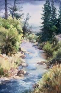 Landscape Painting Watercolor Art
