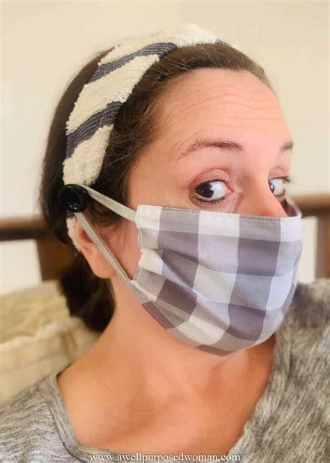 diy headband  buttons  face masks  pattern