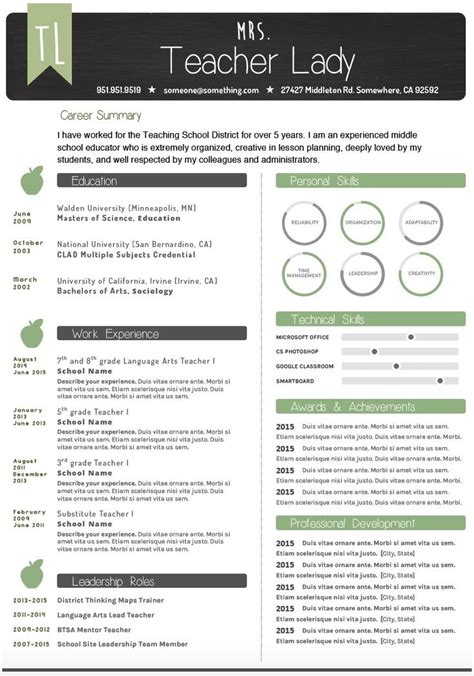 Resumes That Stand Out by 25 Best Ideas About Resume Template On