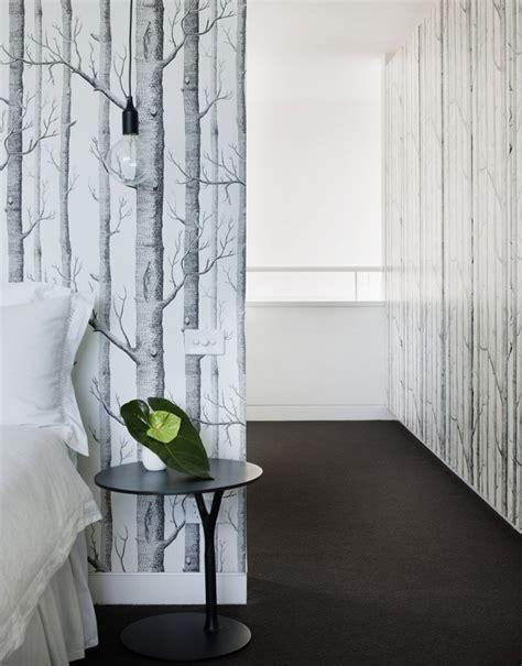 papier peint arbre noir et blanc atlub