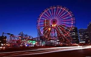 Ferris wheel at night with lights wallpaper HD ~ The ...