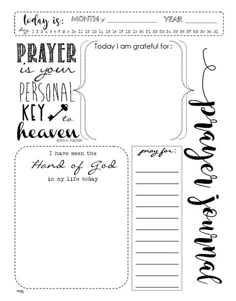 Prayer Journal Template Start A Prayer Journal For More Meaningful Prayers Free