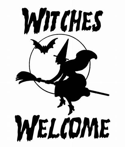 Halloween Silhouette Fun Digital Welcome Clip Witch