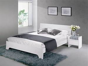 chambre a coucher grise et blanche With deco chambre gris et blanc