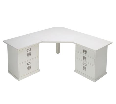 bedford corner desk antique white pottery barn