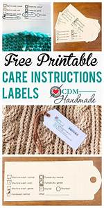 Free Printable Care Instructions Labels For Crafters